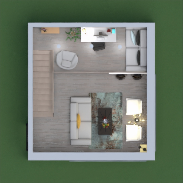 here's my project with a kitchen, a living room and office. Write me every kind of judgment! I hope you like this -> Aurora