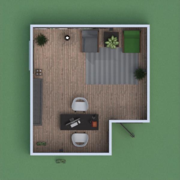Despacho elegante, con lugar de guardado, de descanso y con plantas para que el lugar sea fresco.