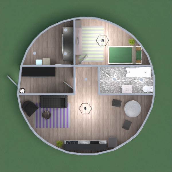 Современный круглый дом