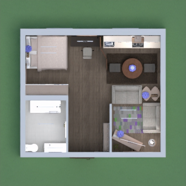 A small cute cosy one bedroom apartment. Its was small but i tried. It took me nearly two hours to do this but only 5 seconds to vote so please vote for me!