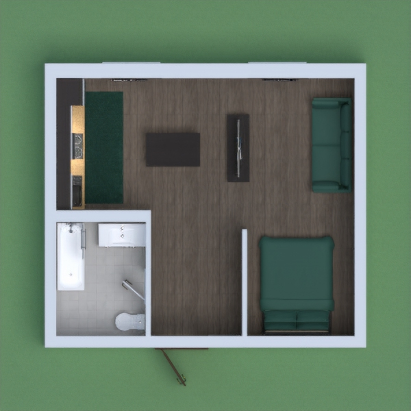 a cute small apartment perfect for 2 people to stay there. There is a small but in very good condition. There and big windows to give you lots of light and working blinds so it can block out the sun.