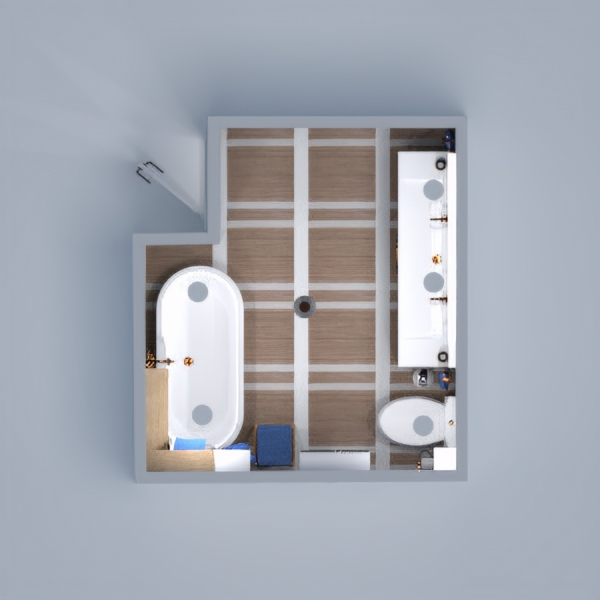 Chic modern bathroom.