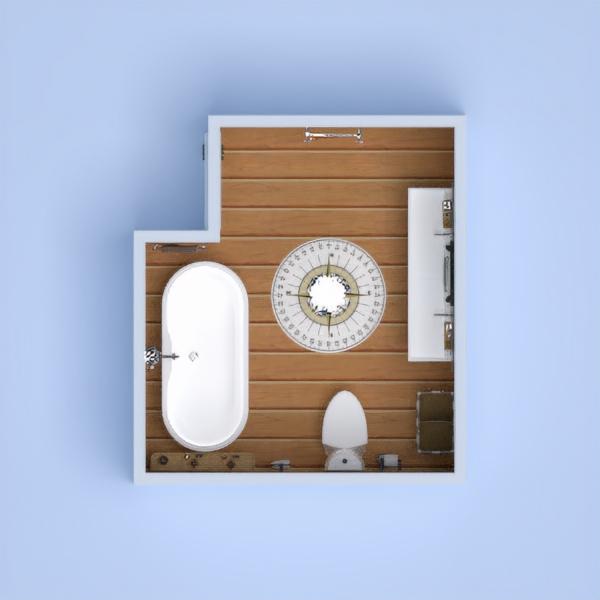 bagno moderno con pietra e legno