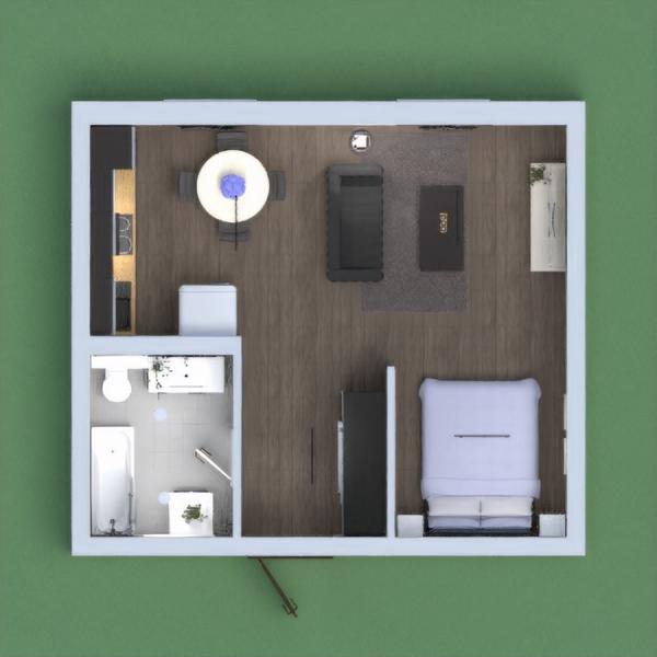 Pequeño loft con una habitación .Muy luminoso con decoración simple .