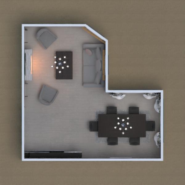 Sala de jantar integrada com a sala de estar. A disposição dos elementos fazem do espaço um lugar mais aconchegante.  Aproveitem uma ótima refeição em família enquanto decidem o próximo programa a assistirem juntos ou só descansem em frente a lareira com uma boa xícara de chá e um livro. by Ana Eliza image