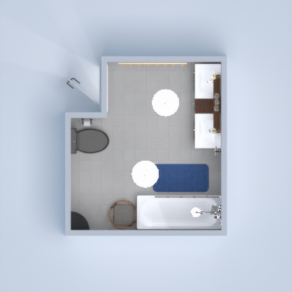 This is a bathroom that is lux but isn't too big. It has got different colours that really work well with each other.