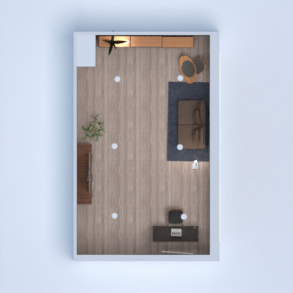 A modern living room/office space and I would love to live here!