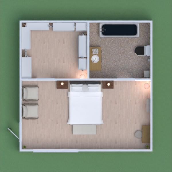 Quarto aconchegante, um closet e um toalete