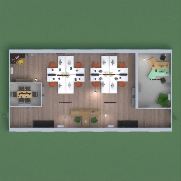 I have created an office with meetings rooms, offices...