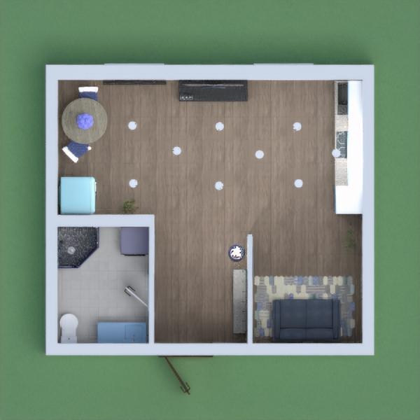 This apartment is painted in blue. It is designed  to accommodate 1 person.  Эта квартира расписана в голубом цвете. Рассчитано на проживание одного человека в ней.